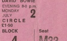 David Bowie concert ticket