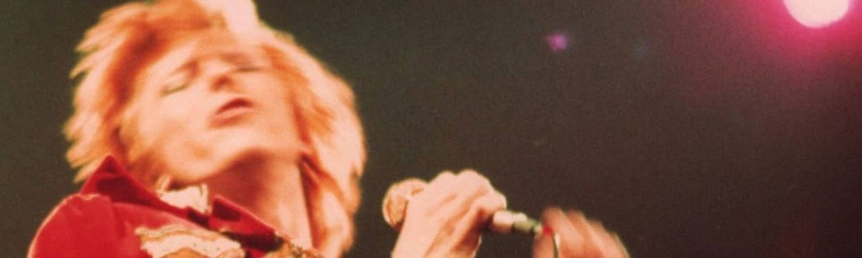 David Bowie –detail from Cracked Actor Live Los Angeles '74 album cover