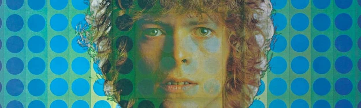 David Bowie –detail from David Bowie (1969) album cover