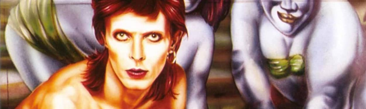 David Bowie –detail from Diamond Dogs album cover