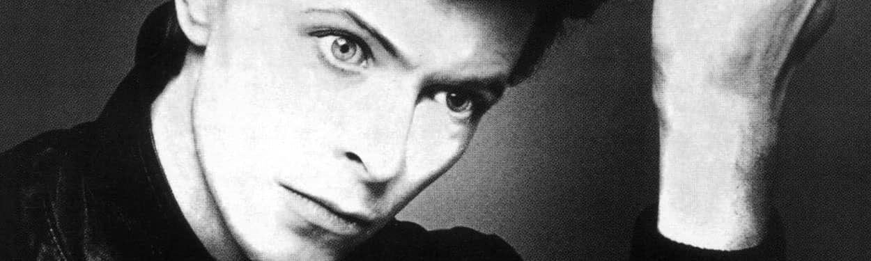 """David Bowie –detail from """"Heroes"""" album cover"""