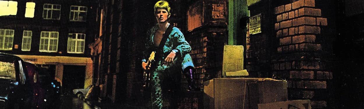 David Bowie – detail from The Rise And Fall Of Ziggy Stardust And The Spiders From Mars album cover