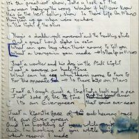 David Bowie's handwritten lyrics for 'Life On Mars?'