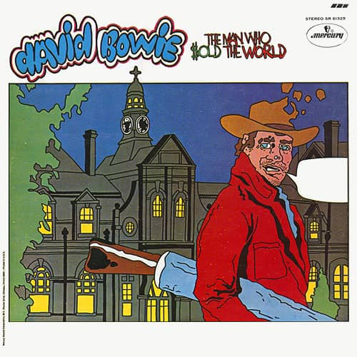 The Man Who Sold The World – cartoon cover artwork
