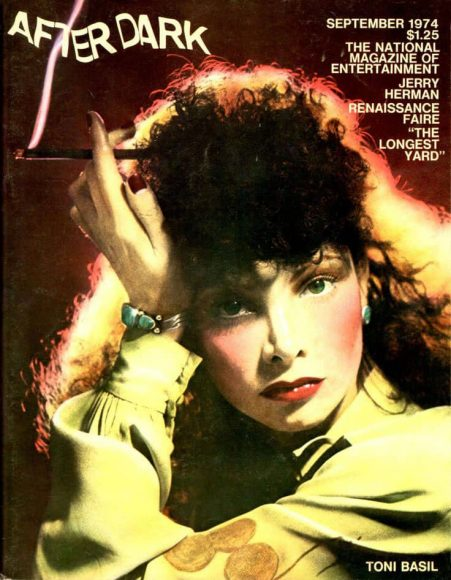 Toni Basil on the cover of After Dark magazine, September 1974